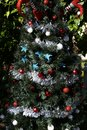 Patriotic christmas tree in fort Myers, Florida, usa Royalty Free Stock Photo