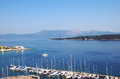 View from the fortress in Kerkyra, Corfu, Greece Royalty Free Stock Photos