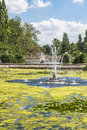 View of a fountain in Hyde Park, London Royalty Free Stock Photo