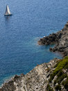 View from the french port cros island in mediterranean sea Royalty Free Stock Images