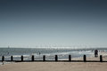 View of frinton seafront beach and shoreline at england Stock Photos