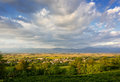 View on friuli s plain near buttrio friulian italy Stock Images