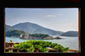 View from fukuzenji taichourou in fukuyama city hiroshima prefecture japan Stock Image