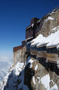 View gallery on mountain peak near Mont Blanc Royalty Free Stock Image