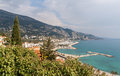 View of Garavan, Menton - French Riviera Stock Image