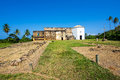 View of Garcia D'Avila Castle, or Casa da Torre, in Praia do Forte, Bahia, Brazil Royalty Free Stock Photo