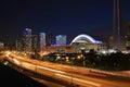 View at the  Gardiner Expressway in Toronto Royalty Free Stock Photo