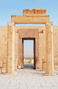 View through Gates in Hatshepsut Temple Stock Photography