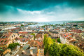 View of geneva old town aerial Royalty Free Stock Photo