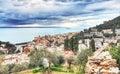 View of Genova Nervi. Royalty Free Stock Photo