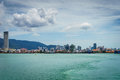 View of george town penang malaysia circa september from ferry to butterworth is the capital city Stock Photography
