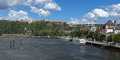 View on German Corner and Ehrenbreitstein Fortress in Koblenz Royalty Free Stock Photos
