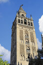 View giralda tower cathedral seville seville spain Royalty Free Stock Photography