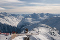 View from glacier in the Alps Royalty Free Stock Images