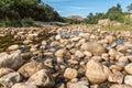 View of Gobos riverbed at Greyton Royalty Free Stock Photo