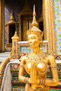 View of a gold statue of an Apsoni Royalty Free Stock Photography