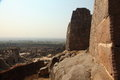 View from Golkonda Fort with wall, Hyderabad Royalty Free Stock Images