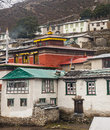 View of the gompa in pangboche nepal circa october circa october Stock Photos
