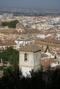 View of Granada from Alhambra Stock Photo