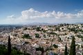 View of granada from the alhambra views sacromonte and albaiciniew in Stock Images