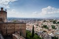 View of granada from the alhambra views sacromonte and albaiciniew in Royalty Free Stock Photo