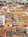 Granada from above with colorful houses