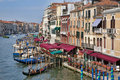 View on Grand Canal with gondola in Venice Stock Photo