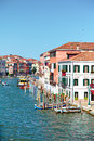 View on grand canal from ponte degli scalzi in venice italy bridge of the barefoot monks Stock Image