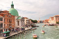 View of the grand canal and the san simeone piccolo san simeone e giuda venice italy september from ponte degli scalzi in Royalty Free Stock Images