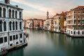 View on grand canal and santi apostoli church from rialto bridge venice italy Stock Image