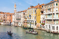 View of Grand Canal in Venice city in spring Royalty Free Stock Photo