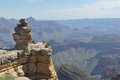 View of the grand canyon arizona a panoramic Royalty Free Stock Photo