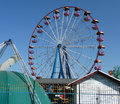 View of the grand carousel large roundabout in summer Royalty Free Stock Photo