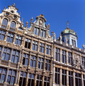 A view of the Grand Place in Brussels, Belgium. Royalty Free Stock Image