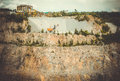 View of the granite quarry Royalty Free Stock Photo