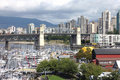 View from Granville island Vancouver BC Canada. Stock Image