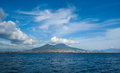 View great mount vesuvius stratovolcano gulf naples italy Stock Photography