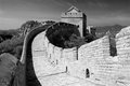 View of great wall china black and white Stock Image