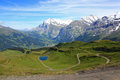 View at Grindelwald with mountains in Switzerland Royalty Free Stock Photo