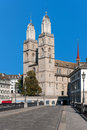 View on Grossmuenster in Zurich Royalty Free Stock Photography