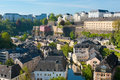 View on Grund, Luxembourg Stock Images