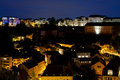 View on Grund at night Royalty Free Stock Photography