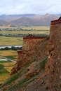 View from Gyantse fort Royalty Free Stock Images