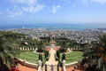 View of Haifa from the Bahai Gardens, Israel Royalty Free Stock Photo