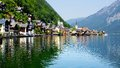 View on the Hallstatt and Hallstatter See. Royalty Free Stock Images