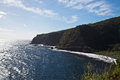 View from the hana highway of maui s coastline Royalty Free Stock Photo