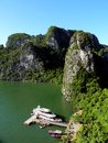 View from hang sung sot in halong bay vietnam Royalty Free Stock Images