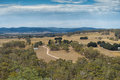 View from Hanging Rock, Mount Macedon Ranges Royalty Free Stock Photo