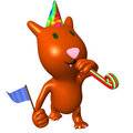 View happy cat on friend birthday party Stock Photos