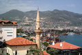 View of the harbor in Alanya Royalty Free Stock Photo
